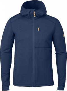 fjellreven keb fleece hoodie herre - blueberry