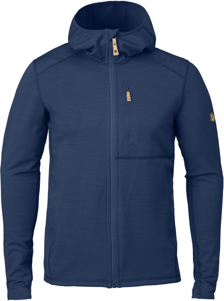 fjellreven keb fleece hoodie herre - blueberry