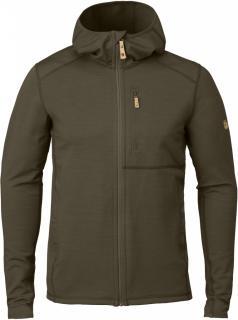 fjellreven keb fleece hoodie herre - dark olive