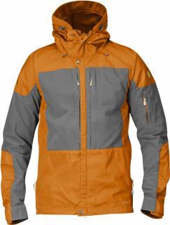 fjellreven keb jakke - seashell orange - grey