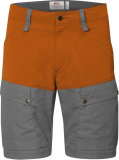 fjellreven keb shorts - seashell orange - grey