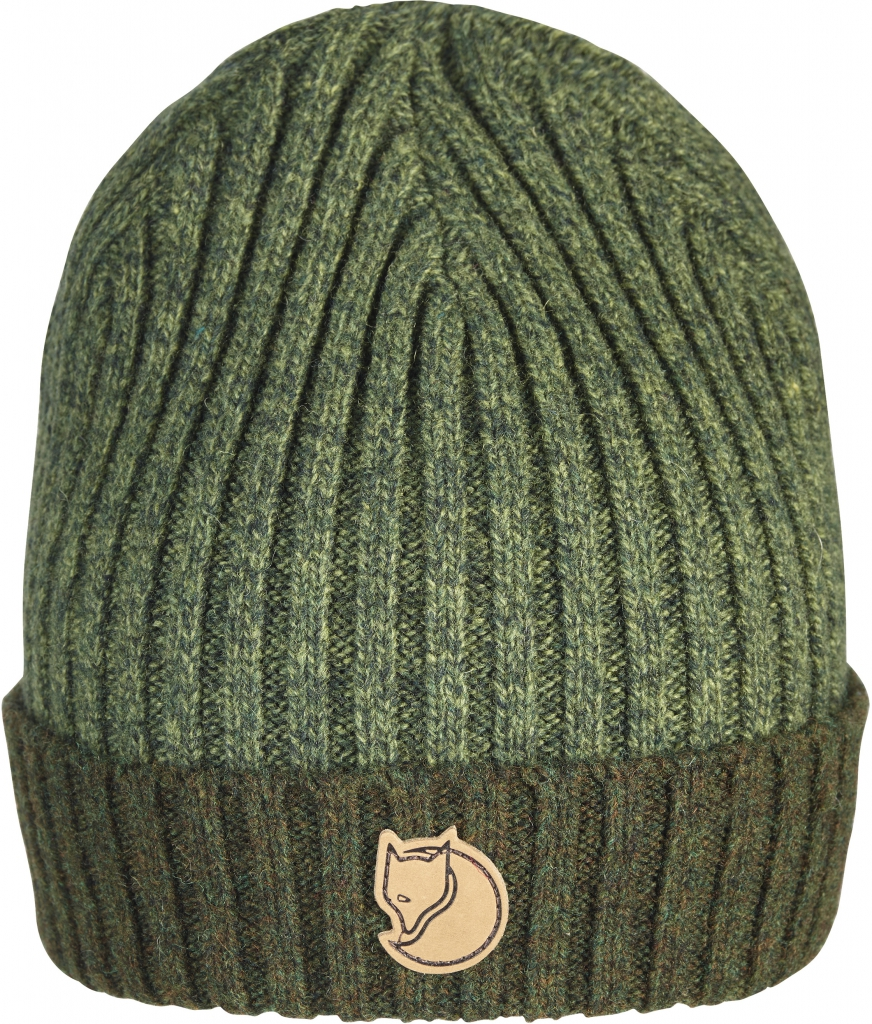 fjellreven two-tone rib hat - dark olive