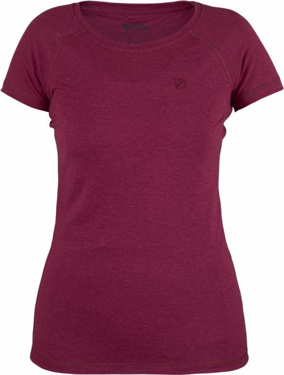 fjellreven abisko trail t-shirt dame - plum