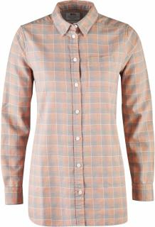 fjellreven high coast flannel shirt ls dame - lily - fog