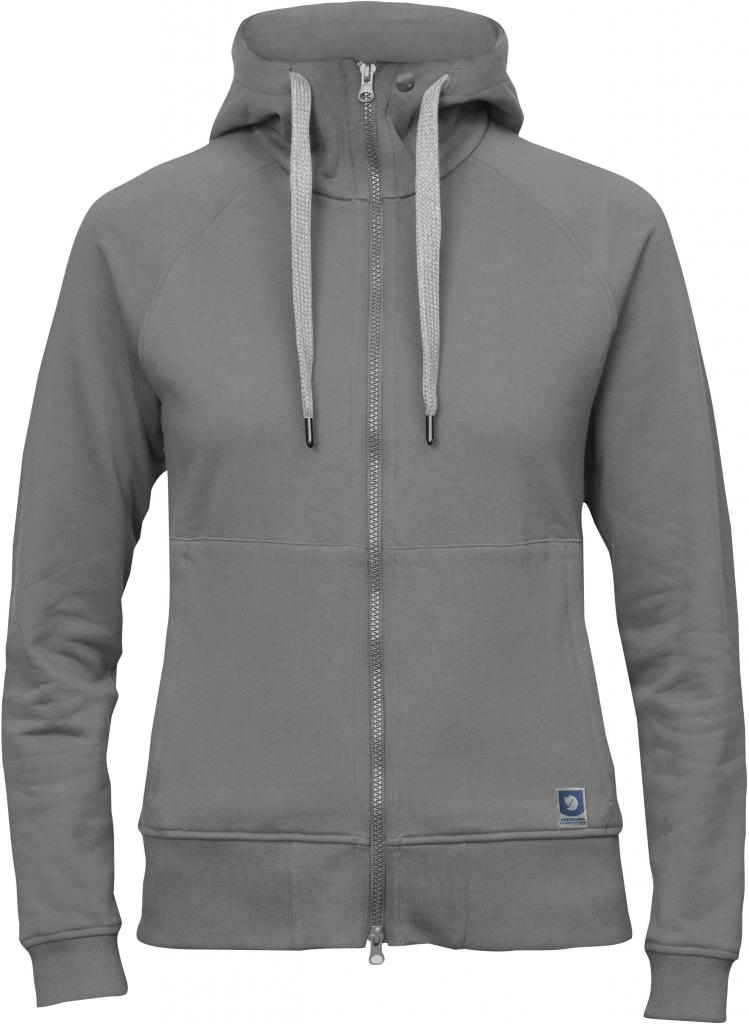 fjellreven greenland zip hoodie dame - fog