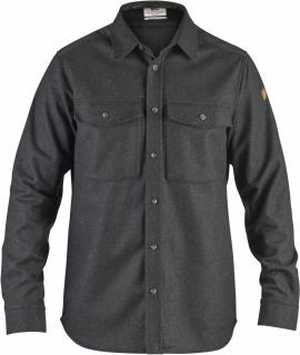 fjellreven Övik re-wool shirt ls herre - dark grey