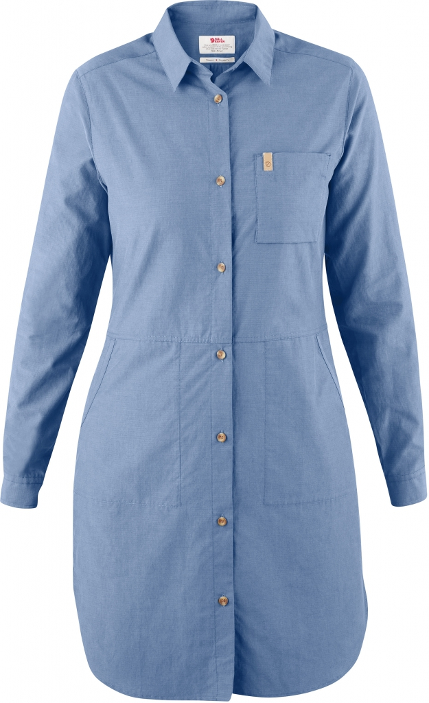 fjellreven Övik shirt dress dame - blue ridge