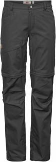 fjellreven daloa shade zip-off trousers dame - dark grey