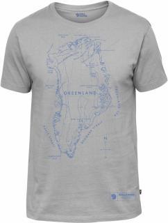 fjellreven greenland printed t-shirt herre - grey