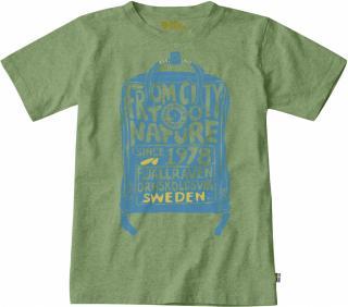 fjellreven kånken kids t-shirt - fern