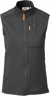 fjellreven keb fleece vest dame - dark grey - black