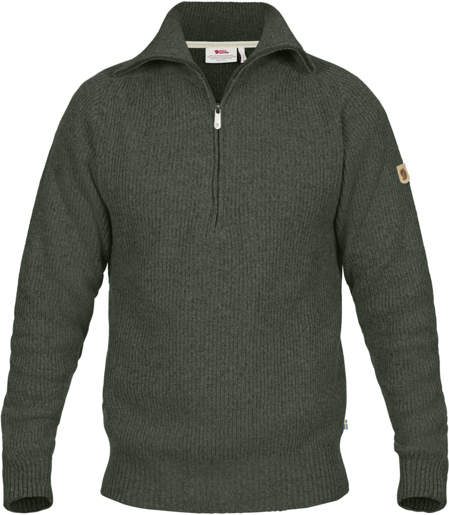 fjellreven greenland re-wool sweater herre - deep forest