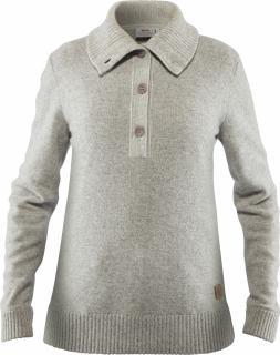 fjellreven greenland re-wool sweater dame - grey