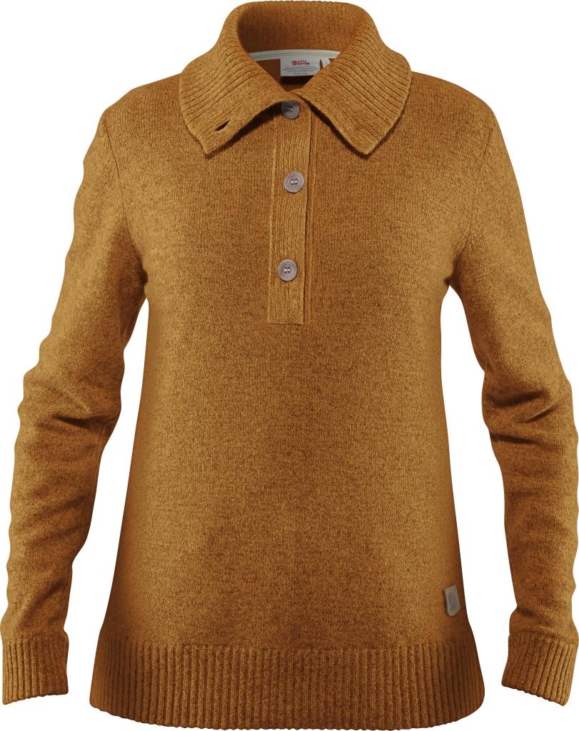 fjellreven greenland re-wool sweater dame - acorn