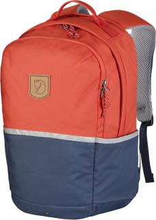 fjellreven high coast kids - flame orange - navy