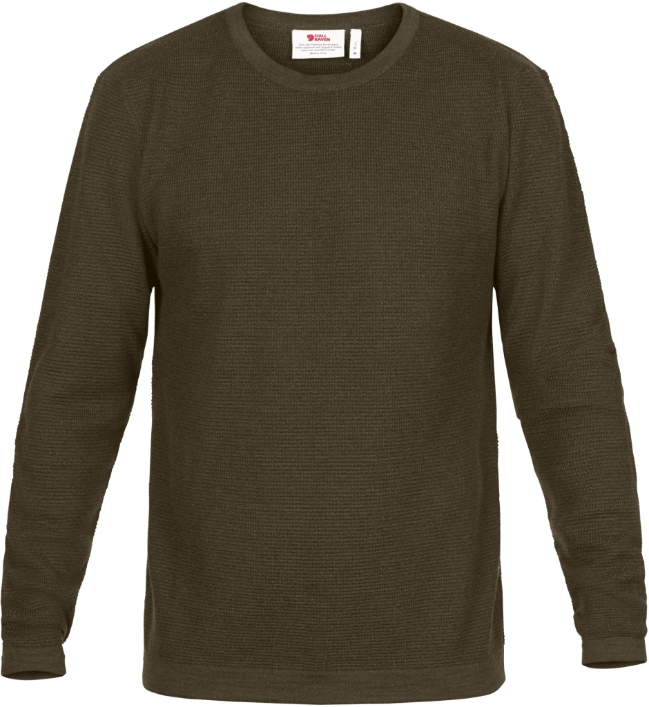 fjellreven high coast merino sweater herre - khaki