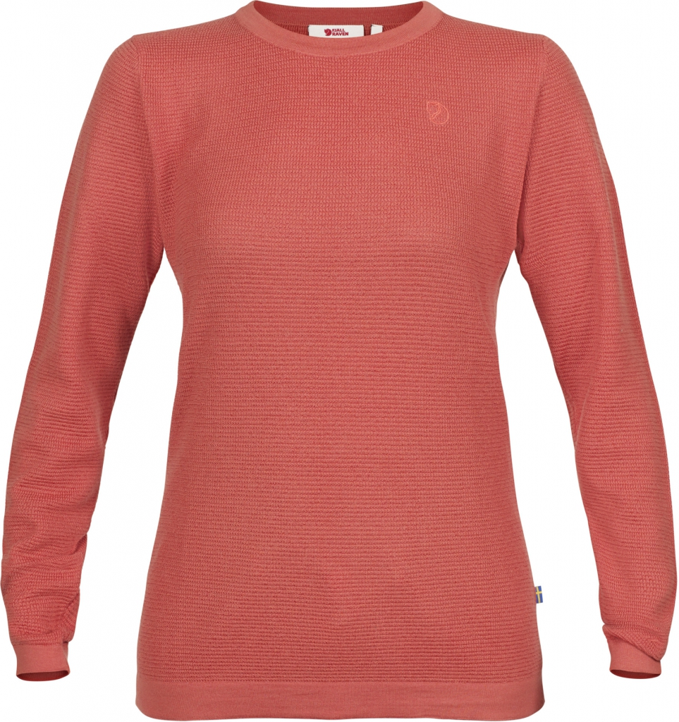 fjellreven high coast merino sweater dame - dahlia