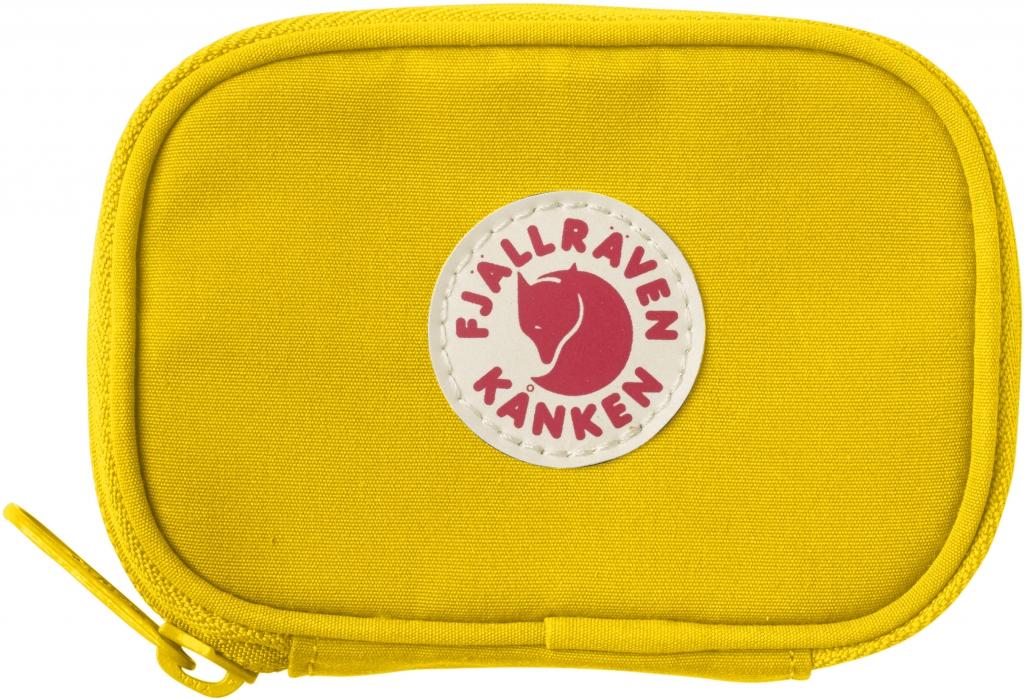 fjellreven kånken card wallet - warm yellow