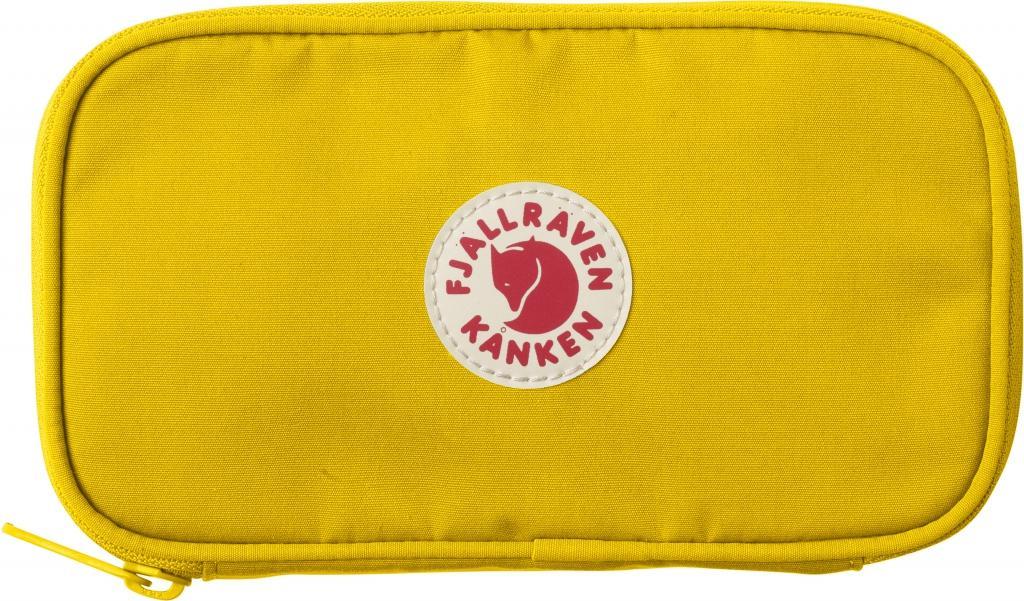 fjellreven kånken travel wallet - warm yellow