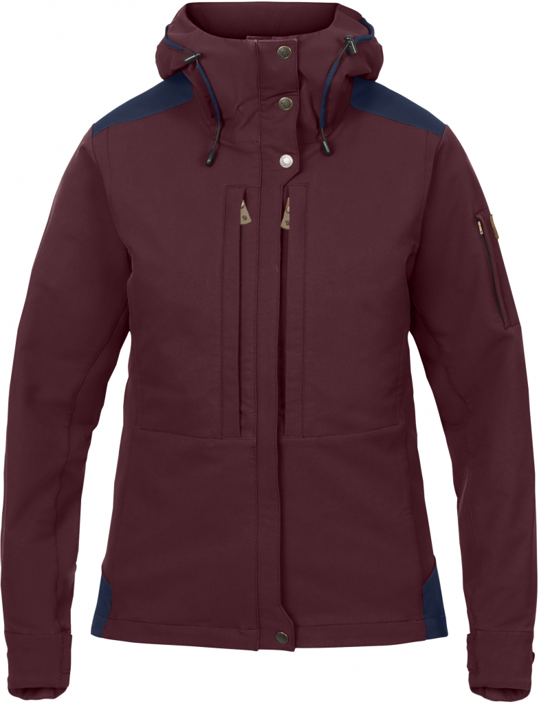 fjellreven keb touring jacket dame - dark garnet - night sky