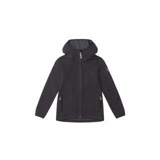 fjellreven kids keb fleece hoodie - dark grey - black