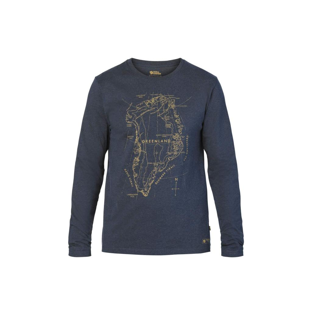 fjellreven greenland printed long sleeve herre - navy