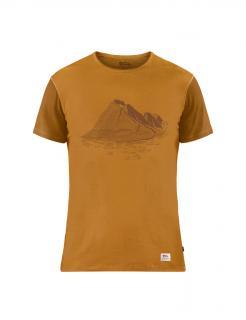 fjellreven keb wool t-shirt print herre - acorn - chestnut