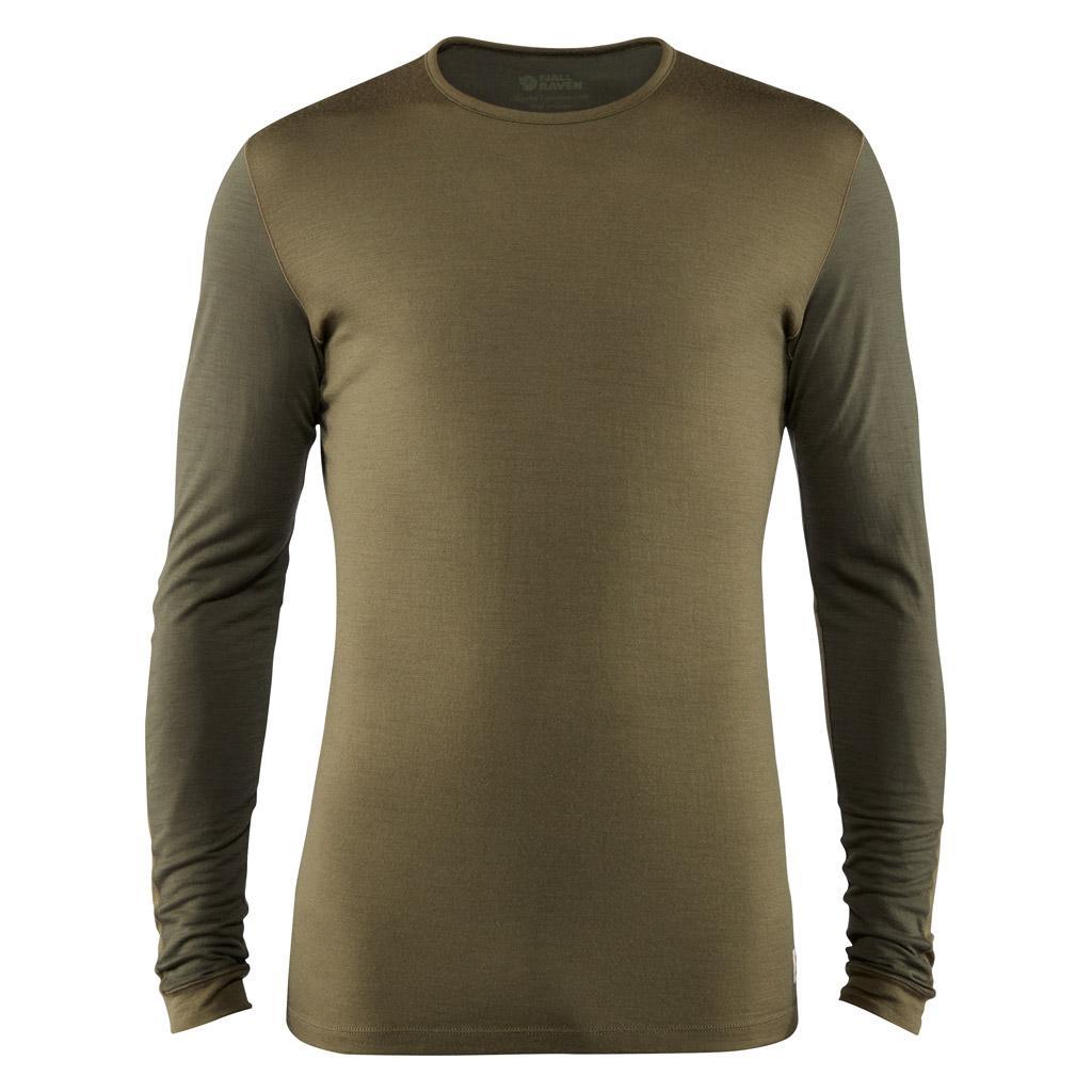 fjellreven keb wool t-shirt ls herre - laurel green - deep forest