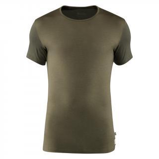 fjellreven keb wool t-shirt herre - laurel green - deep forest