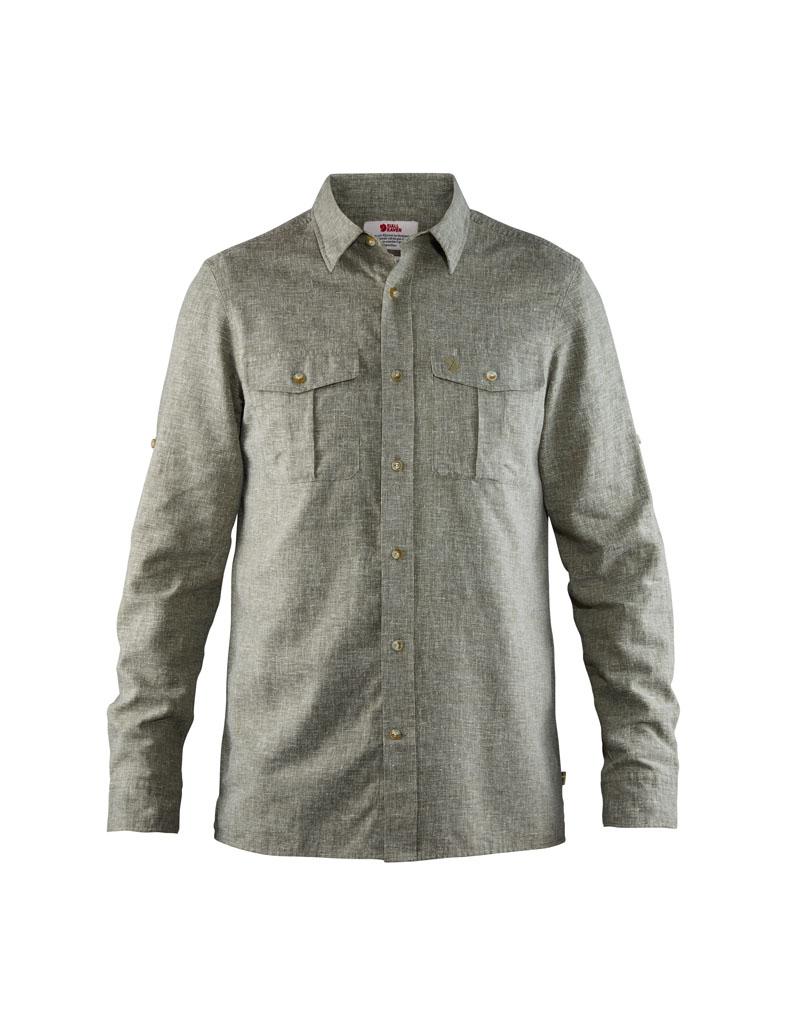 fjellreven Övik travel shirt ls herre - green
