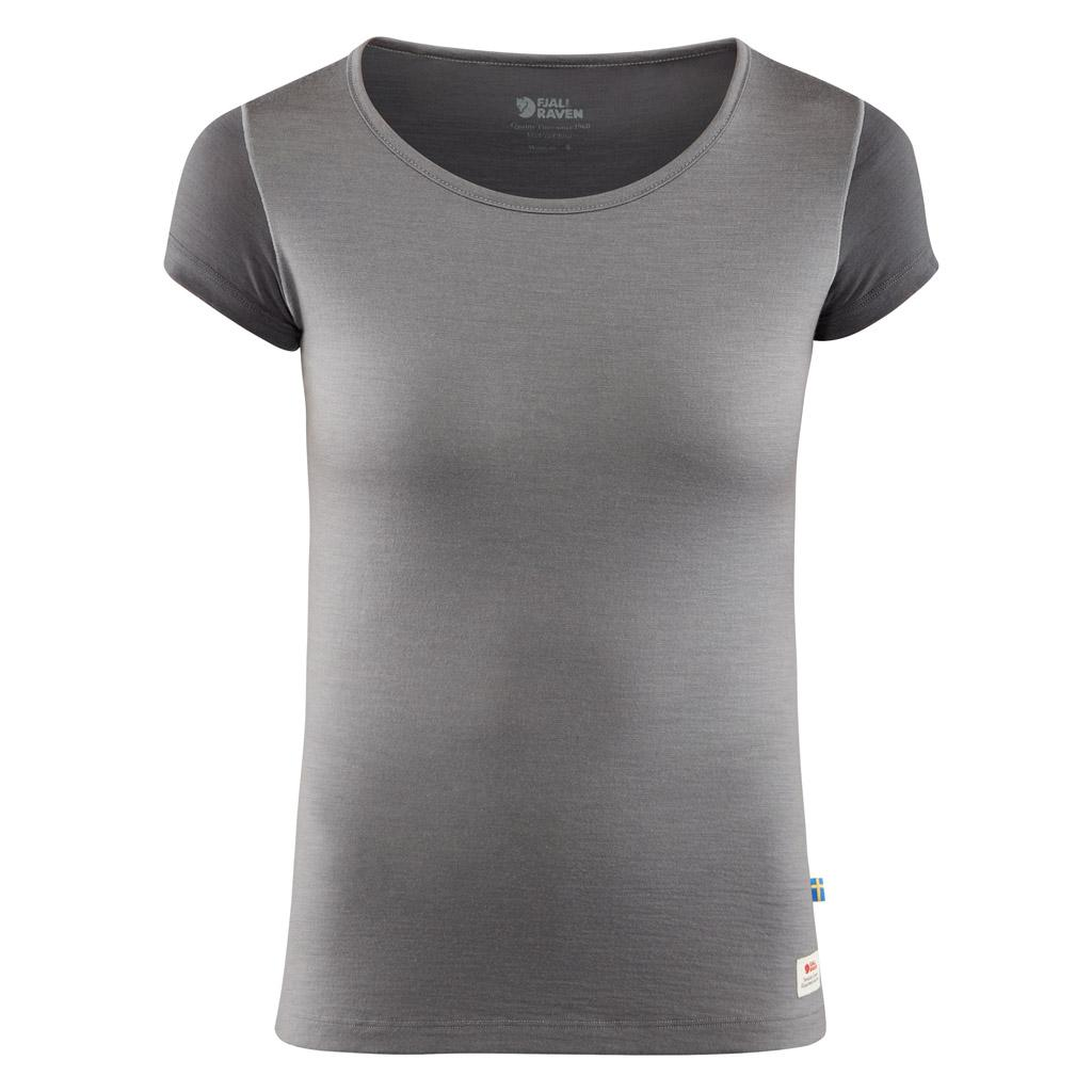 fjellreven keb wool t-shirt dame - light grey - grey