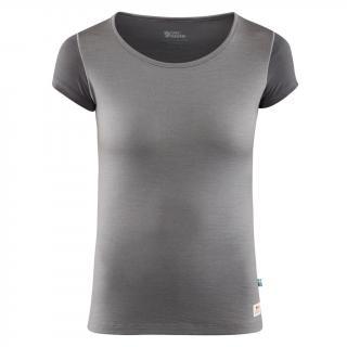 fjellreven keb wool t-shirt dame - light grey - grey