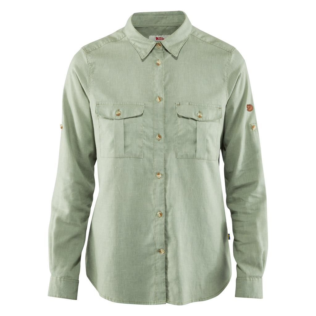 fjellreven Övik travel shirt ls dame - sage green