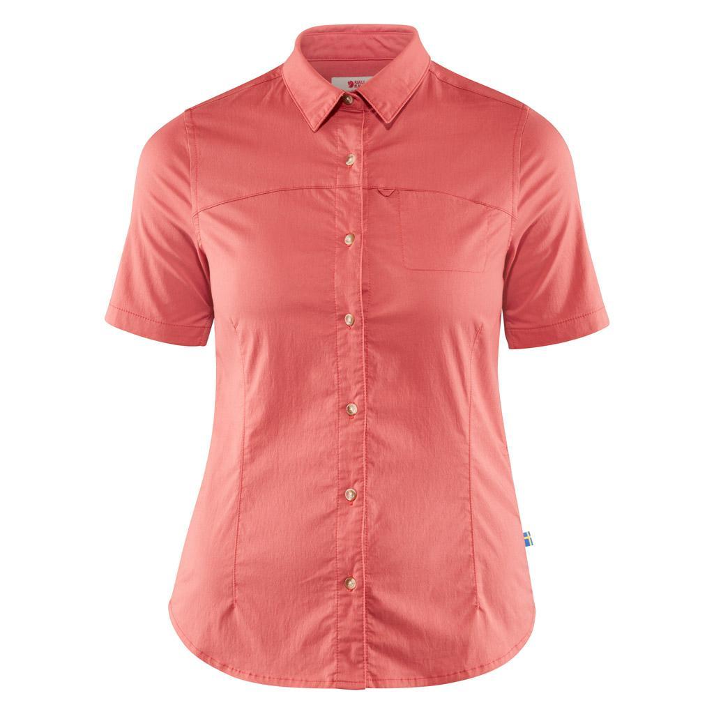 fjellreven high coast stretch shirt ss dame - dahlia