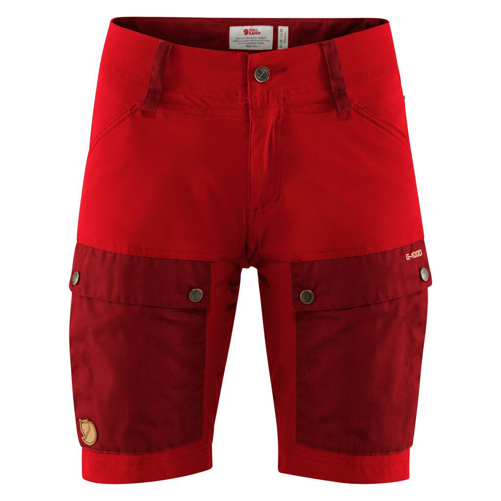fjellreven keb shorts dame - ox red - lava