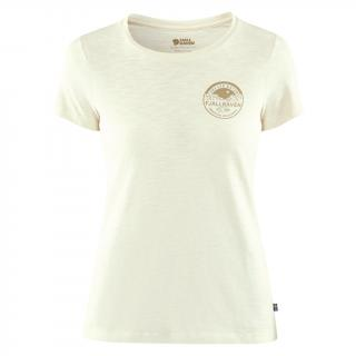 fjellreven forever nature badge t-shirt dame - chalk white