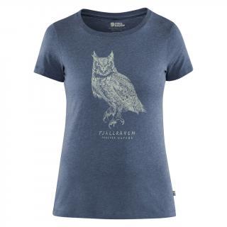 fjellreven owl print t-shirt dame - uncle blue
