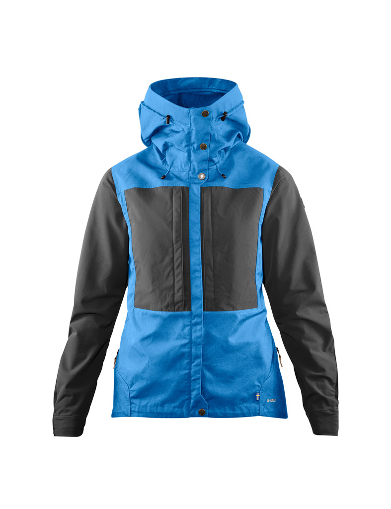 fjellreven keb jakke dame - un blue - stone grey