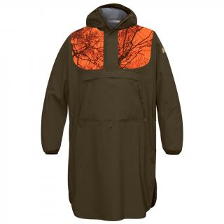 fjellreven lappland eco-shell poncho - dark olive - orange camo