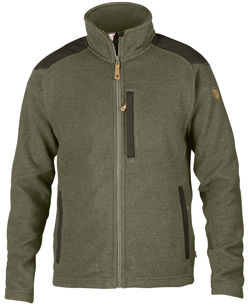 fjellreven buck fleece herre - laurel green - deep forest