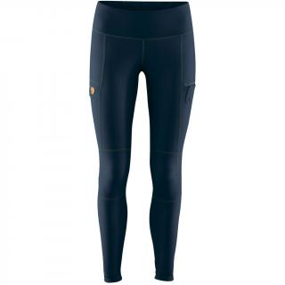 fjellreven abisko trail tights dame - navy - dark navy