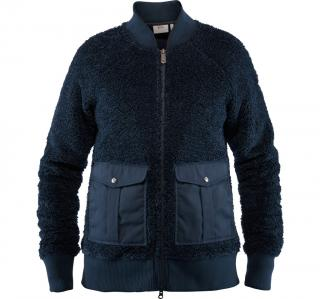 fjellreven greenland pile fleece dame - night sky