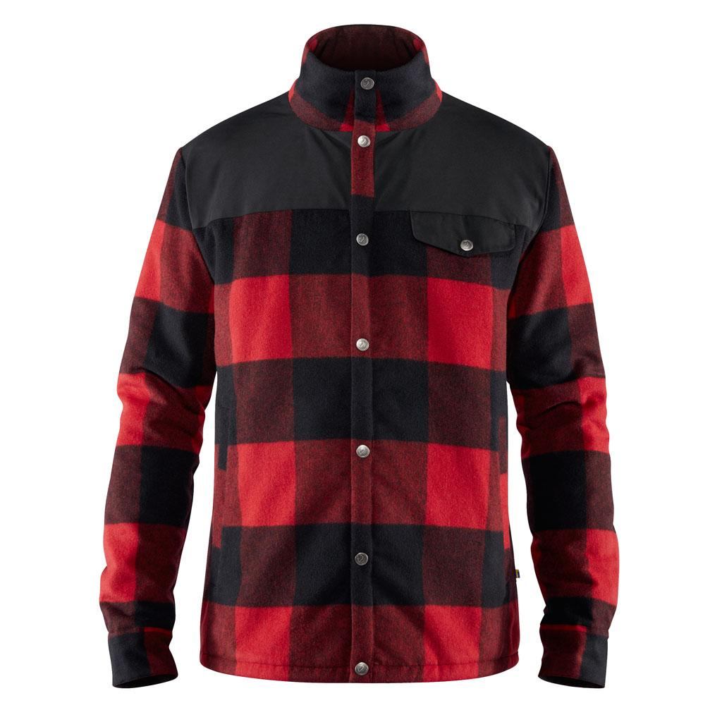 fjellreven canada wool padded jakke herre - red