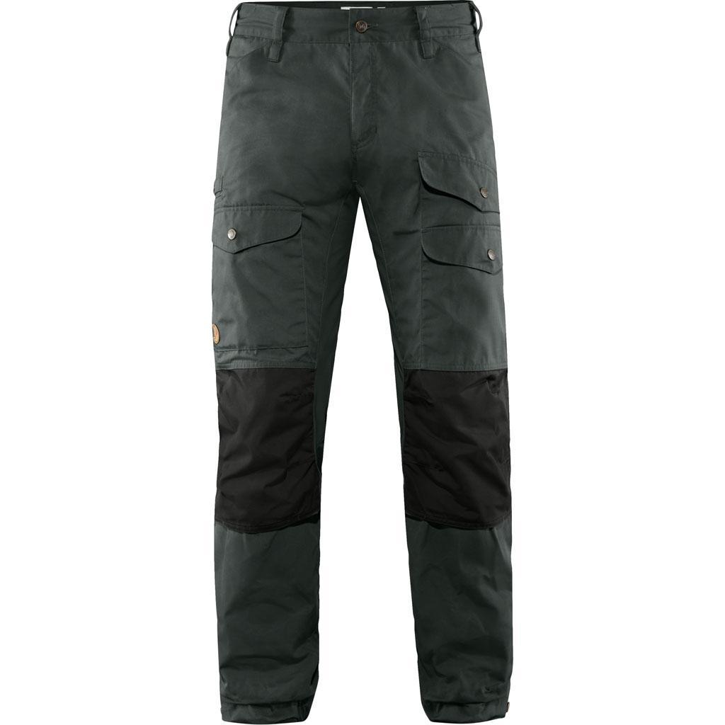 fjellreven vidda pro ventilated bukse long herre - dark grey - black
