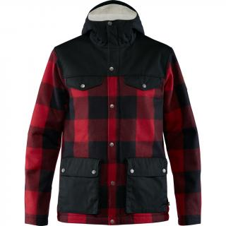 fjellreven greenland re-wool jakke herre - red - black