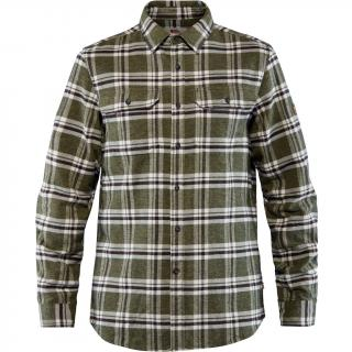 fjellreven Övik heavy flannel shirt herre - deep forest