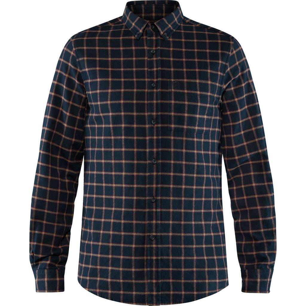fjellreven Övik flannel shirt herre - dark navy