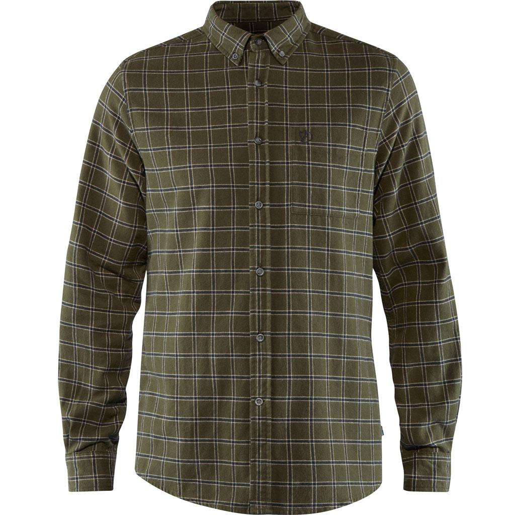 fjellreven Övik flannel shirt herre - deep forest