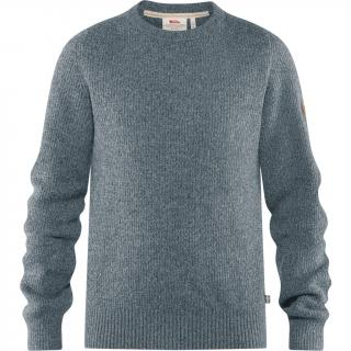fjellreven greenland re-wool crew neck herre - thunder grey