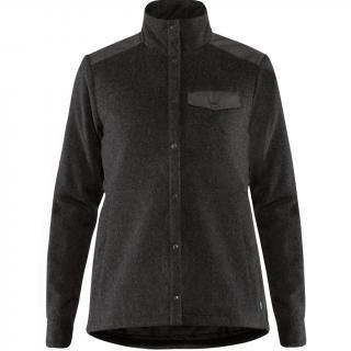 fjellreven canada wool padded jakke dame - stone grey